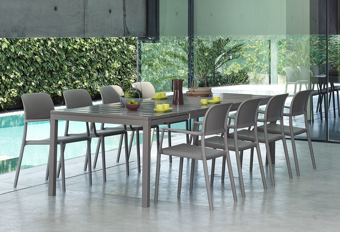 Contemporary Dining Table / Polypropylene / Rectangular / Garden For Favorite Rio Dining Tables (View 5 of 25)