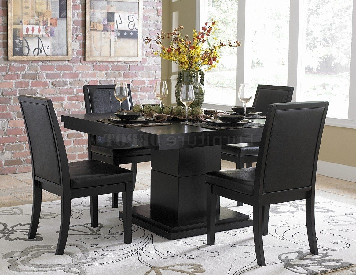 Contemporary Dining Tables Sets With Regard To 2018 Black Dining Room Sets Modern (View 8 of 25)