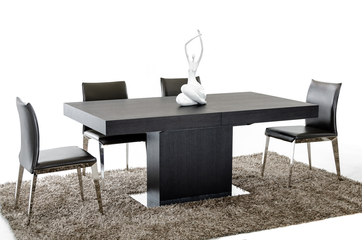 Contemporary Extending Dining Tables Intended For Most Current Durham Modern Wenge Extendable Dining Table (View 23 of 25)
