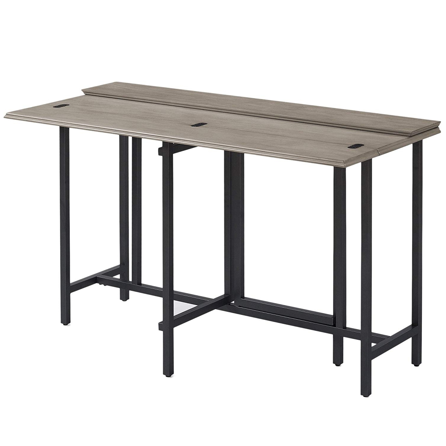 Convertible Dining Table Wood Contemporary Expandable Home Console Kitchen  Table Regarding Fashionable Wood Dining Tables (View 15 of 25)