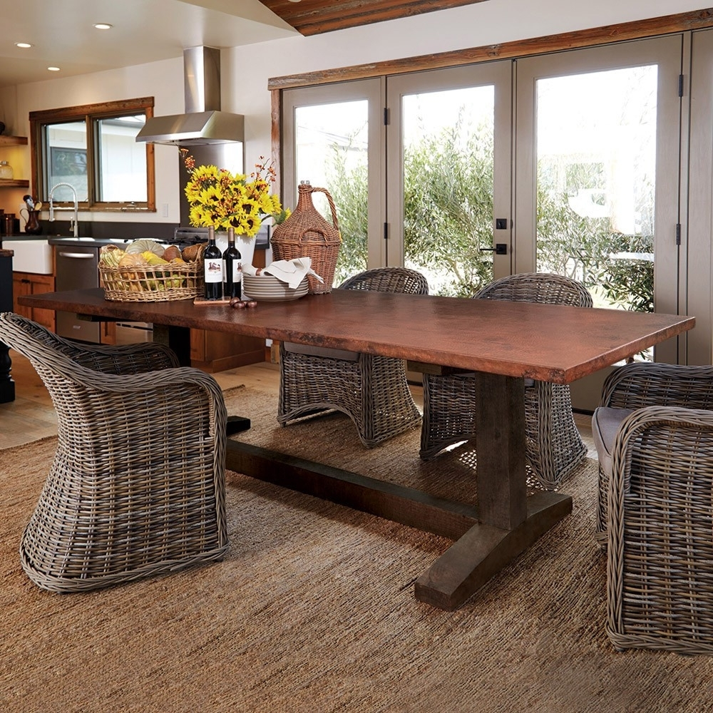 Cooper Dining Tables With Most Recent Farmhouse Copper Top Dining Tables (View 13 of 25)