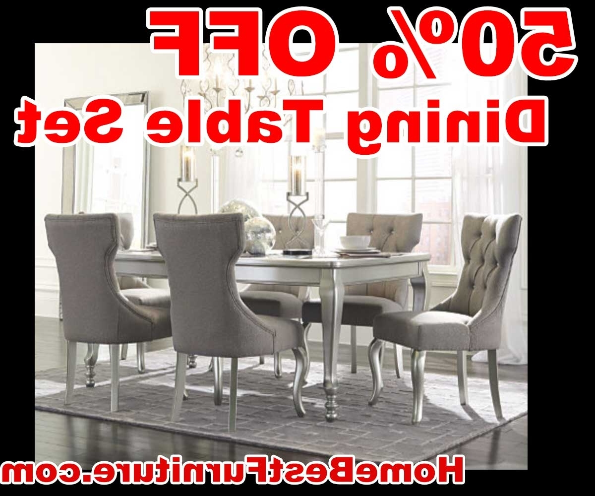 Cora 5 Piece Dining Sets Throughout Most Popular 50 Percent Off Discount Silver Coralayne 5 Piece Dining Room Sets (Gallery 23 of 25)