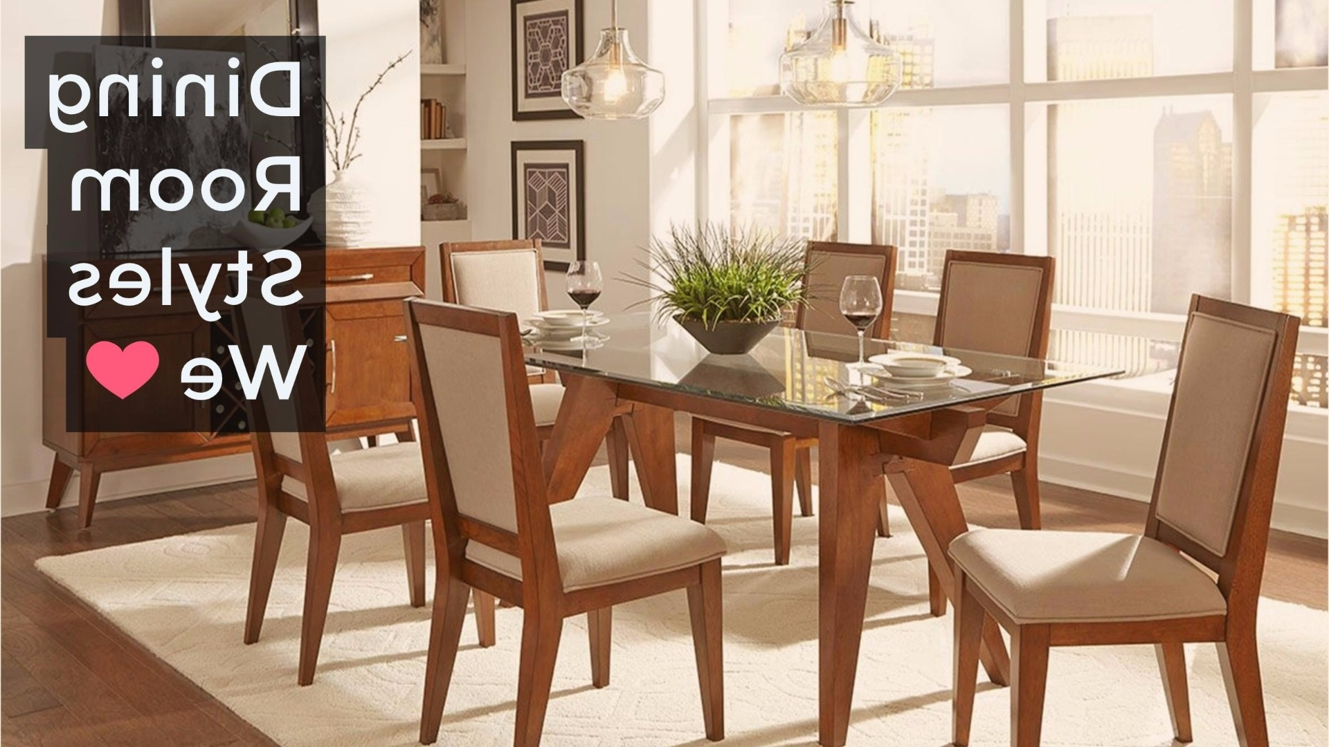 Cora 5 Piece Dining Sets Within Famous Dining Room Styles We Love (View 24 of 25)