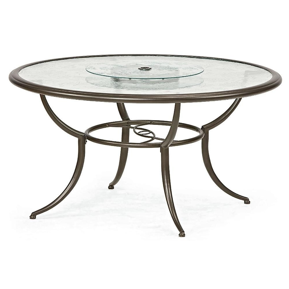 Cora Dining Tables In 2017 Jaclyn Smith Cora Dining Table With Lazy Susan – Outdoor Living (View 4 of 25)