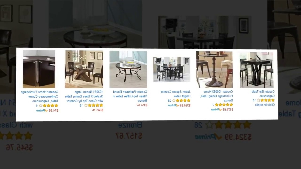 Cora Dining Tables In Most Recent Jaclyn Smith Cora Dining Table With Lazy Susan – Youtube (View 5 of 25)