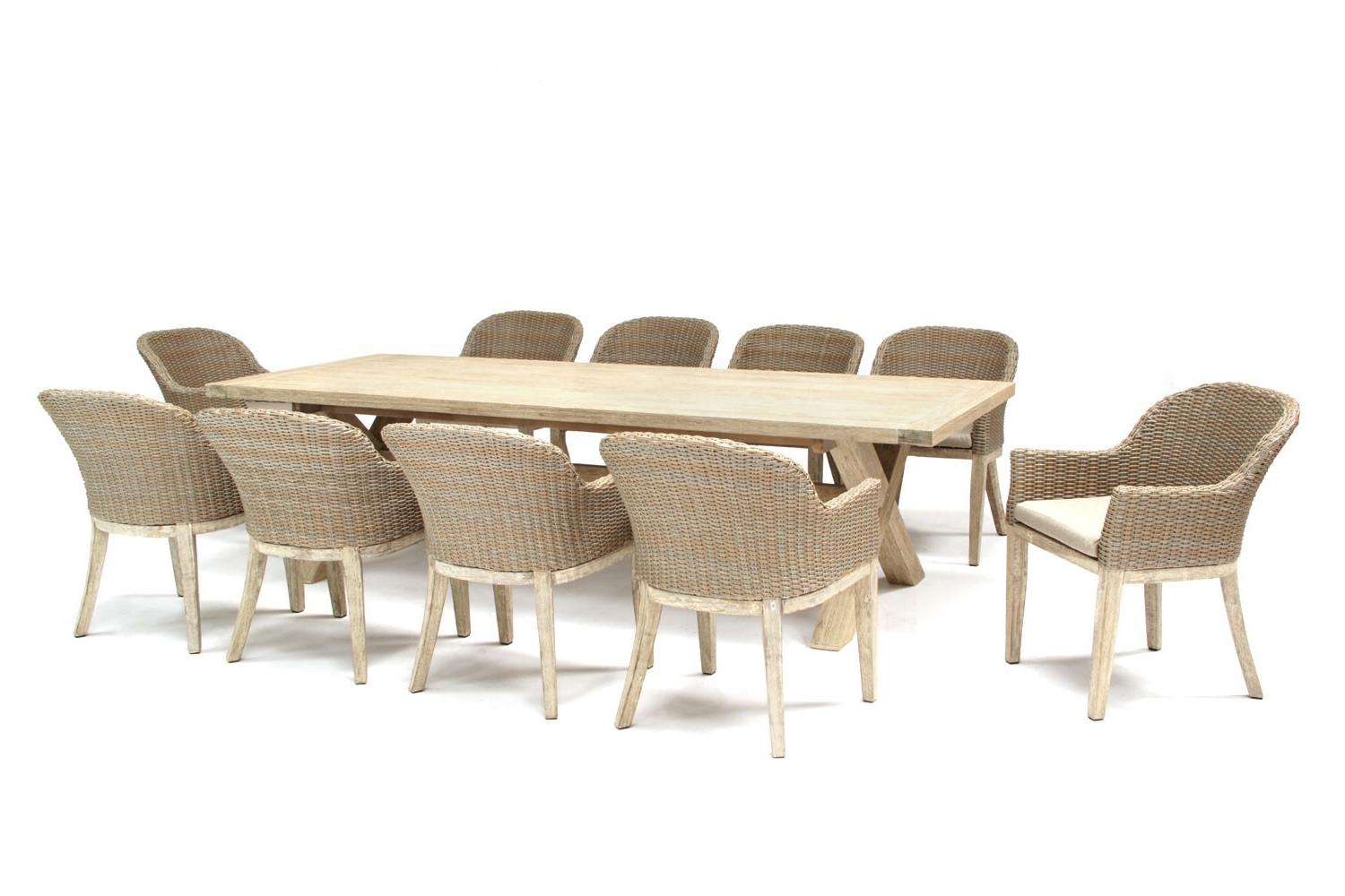 Cora Dining Tables Inside Most Recently Released Kettler Cora 280X100Cm 10 Seat Dining Set (View 7 of 25)
