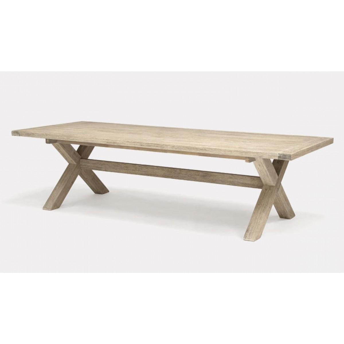 Cora Dining Tables Regarding Popular Kettler Cora Rectangular Dining Table 280 X 110 Cross Leg Best Price (View 4 of 25)
