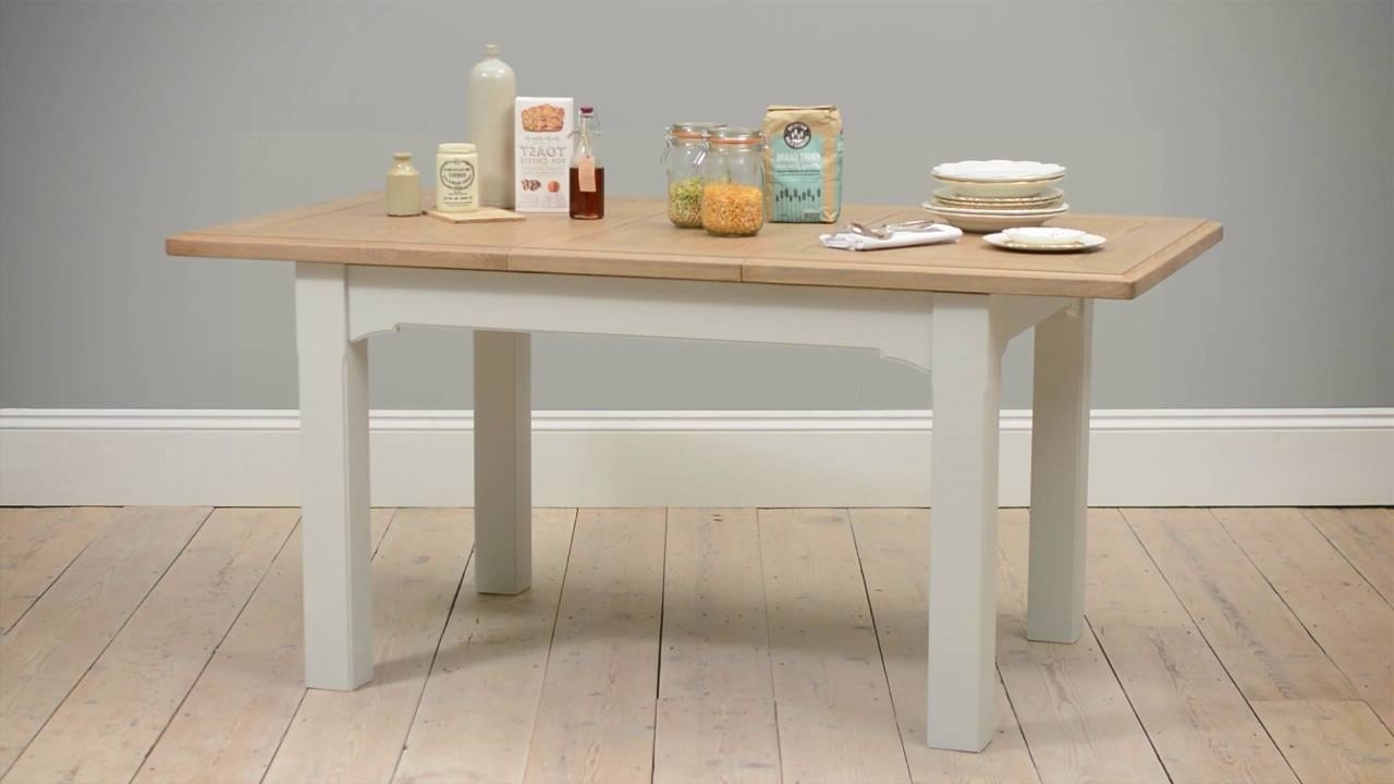 Cotswold Dining Tables Inside Latest Westbury Grey Painted 125 165Cm Ext (View 7 of 25)