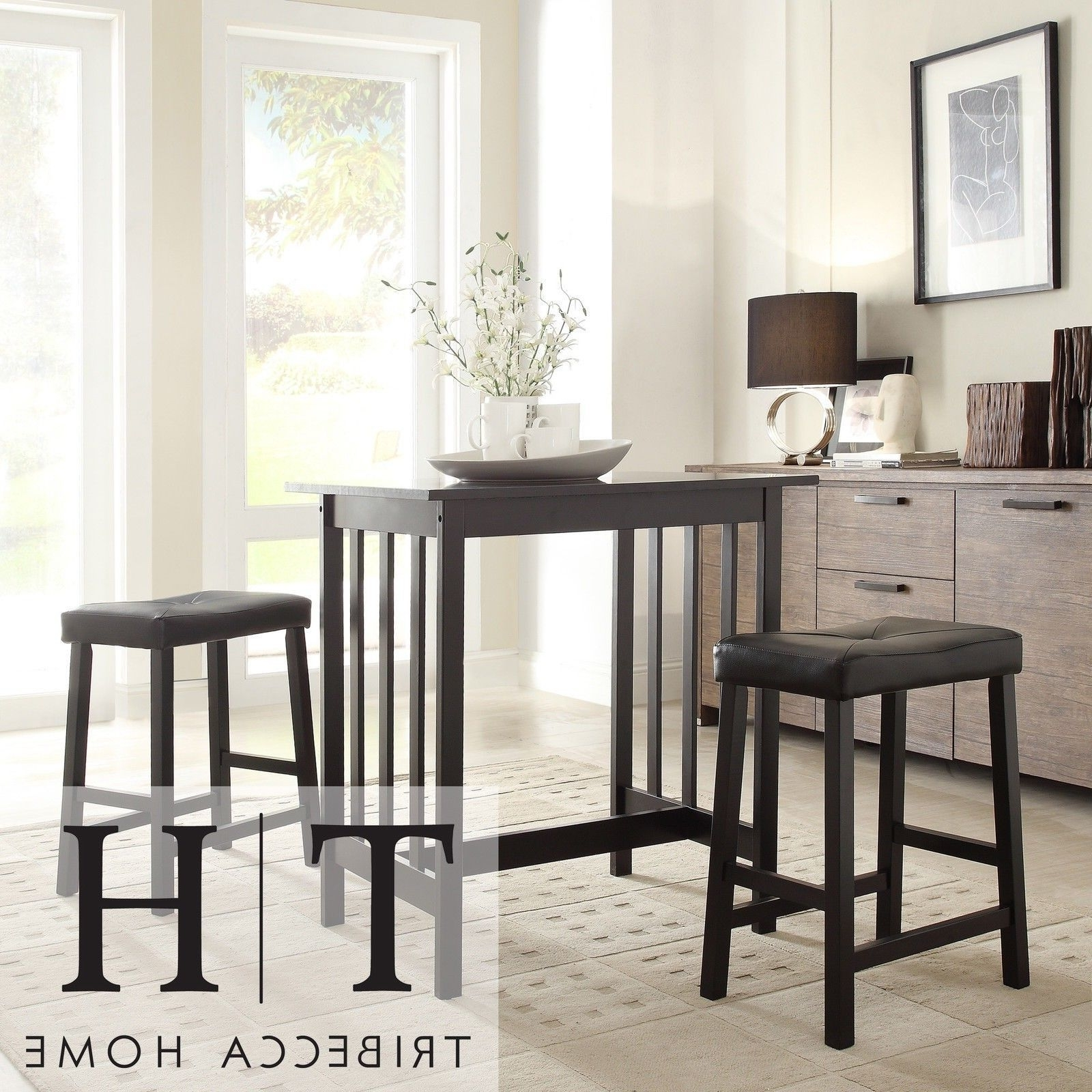 Counter Height Kitchen Sets Counter Height Kitchen Table Sets With Within 2017 Palazzo 3 Piece Dining Table Sets (View 3 of 25)