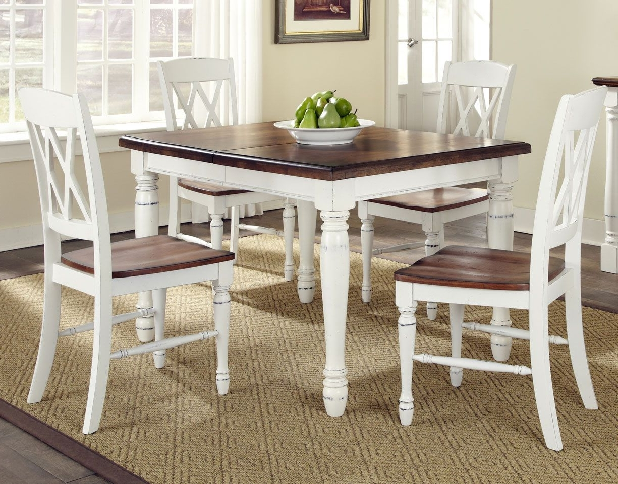 Country Dining Tables In Current Kitchen Home Styles Monarch White And Oak Kitchen Dining Room Table (View 2 of 25)