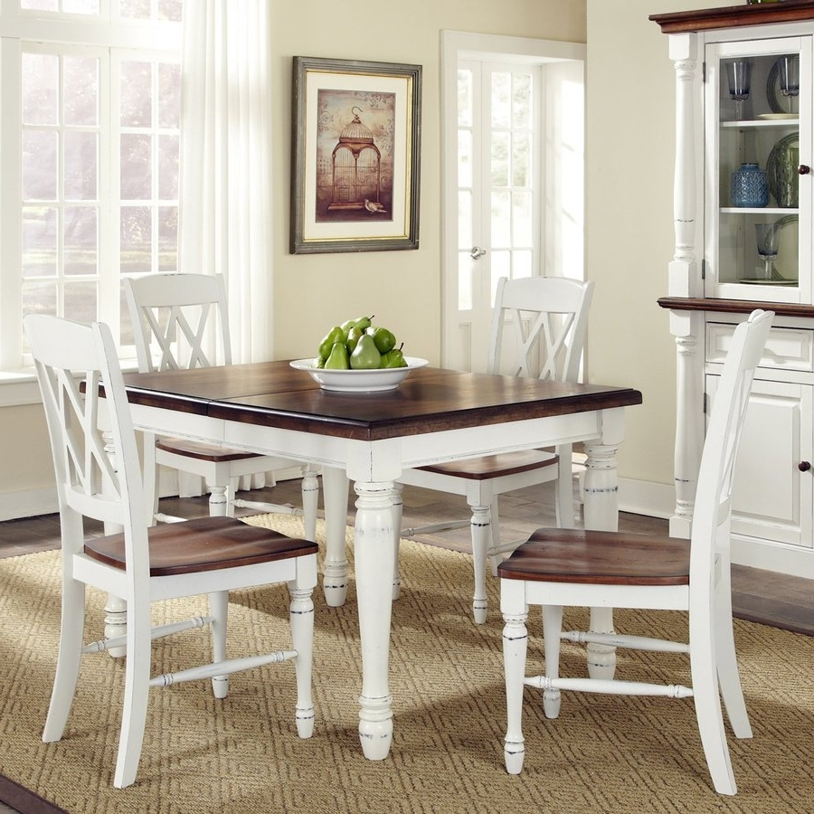 Craftsman 5 Piece Round Dining Sets With Uph Side Chairs With Fashionable Shop Dining Sets At Lowes (Gallery 20 of 25)