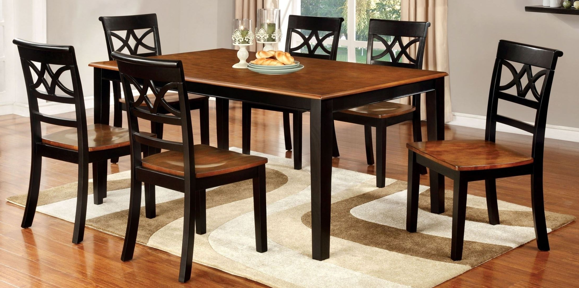 Craftsman 7 Piece Rectangle Extension Dining Sets With Arm & Side Chairs Intended For Well Known Furniture Of America Torrington Black And Cherry Rectangular (View 6 of 25)