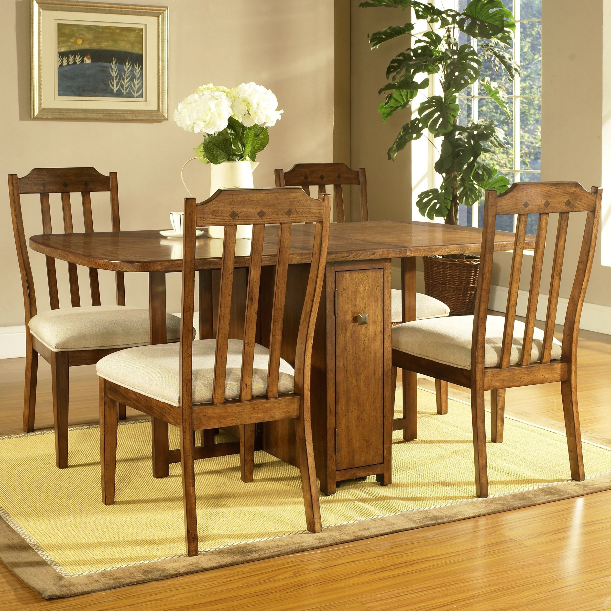 Craftsman 7 Piece Rectangular Extension Dining Sets With Arm & Uph Side Chairs Pertaining To Most Up To Date Shop Somerton Dwelling Craftsman 5 Piece Gate Leg Dining Set – Free (View 4 of 25)