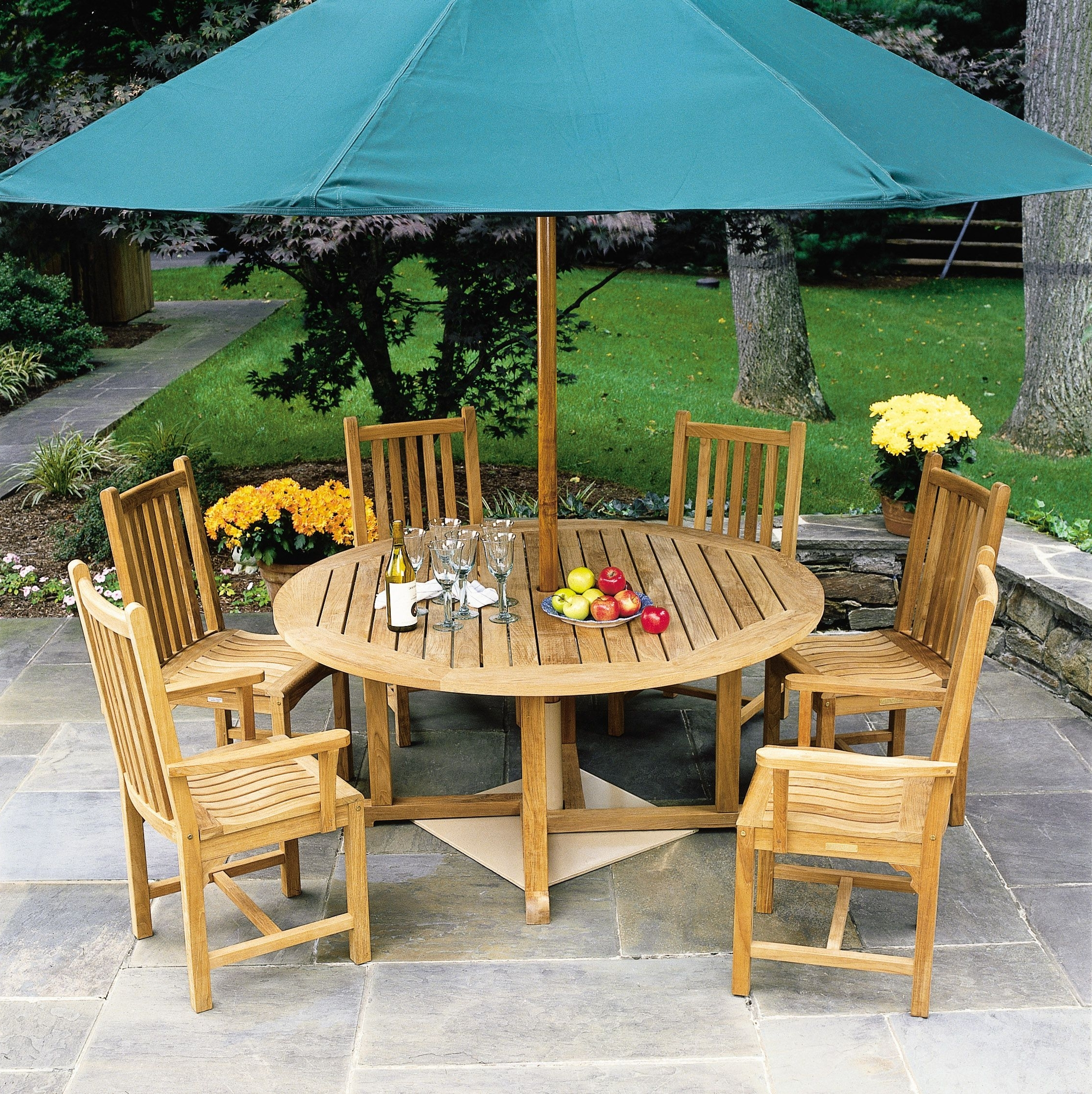 Craftsman 7 Piece Rectangular Extension Dining Sets With Arm & Uph Side Chairs Throughout Favorite Kingsley Bate Classic Dining Armchair (View 10 of 25)