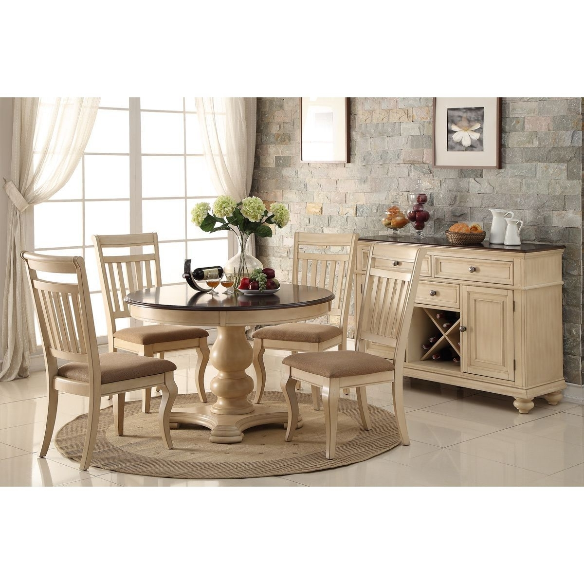 Craftsman 9 Piece Extension Dining Sets With Uph Side Chairs Regarding Most Current Great Barrington Dining Set (6 Piece), Ivory (View 8 of 25)
