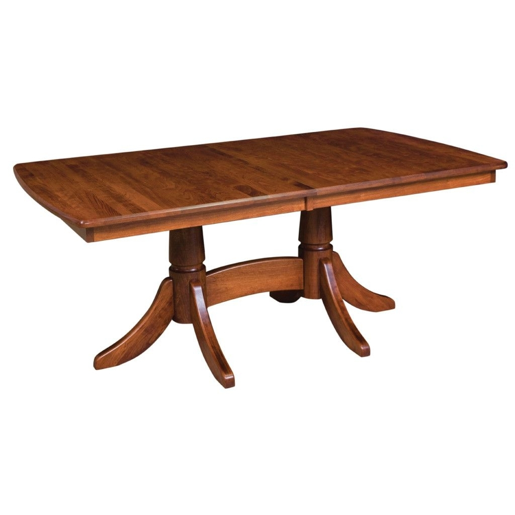 Craftsman Rectangle Extension Dining Tables Regarding Most Popular Baytown Double Pedestal Extension Table (View 4 of 25)