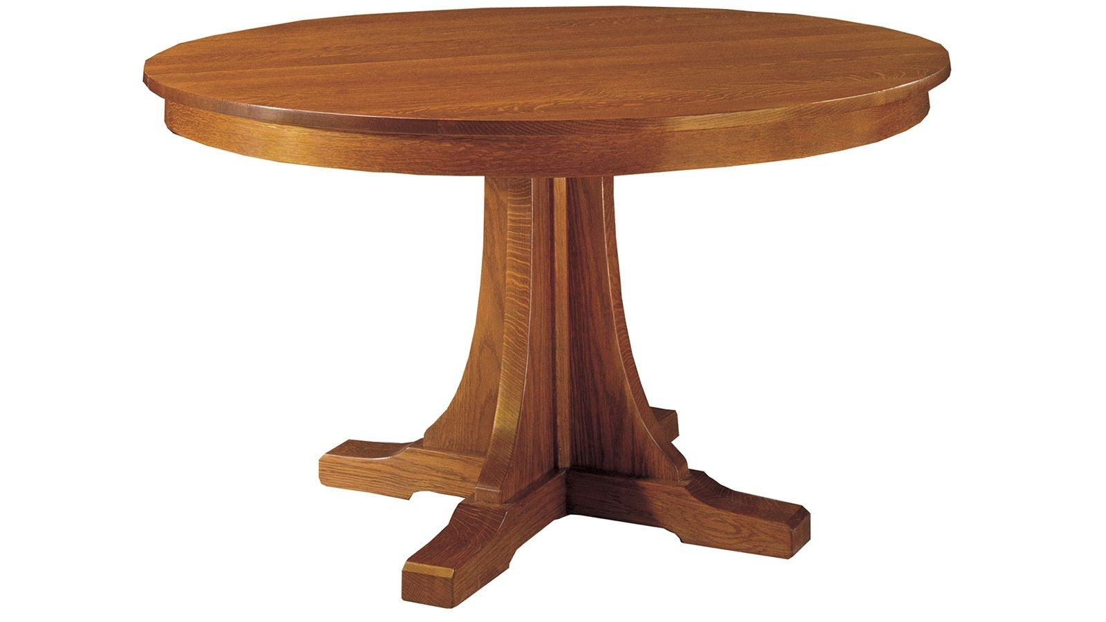 Craftsman Round Dining Tables For Well Known Made In America Out Of Quartersawn White Oak, This Lovely Dining (View 4 of 25)