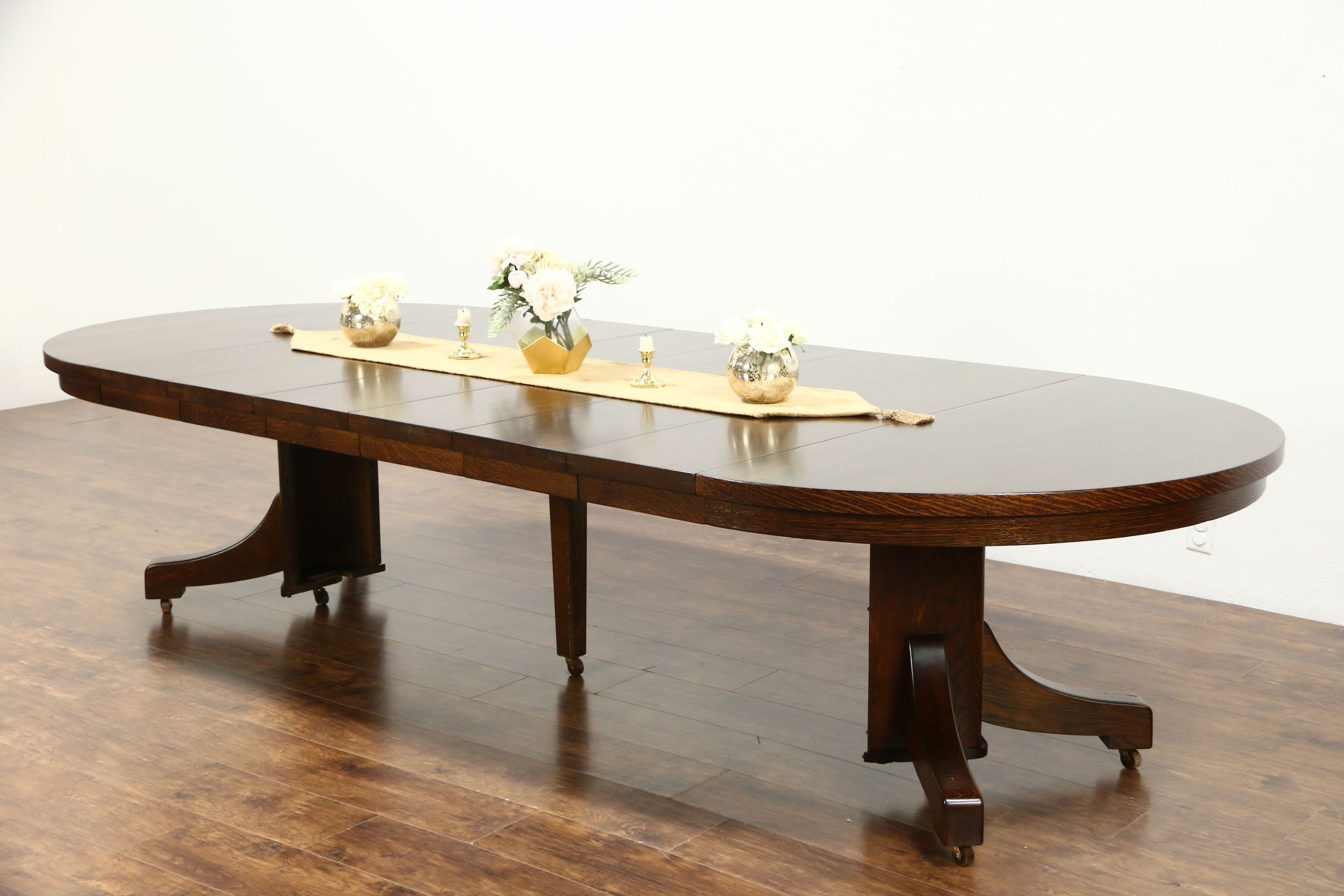 Craftsman Round Dining Tables Throughout Best And Newest Sold – Arts & Crafts Mission Oak Antique Round Craftsman Dining (View 20 of 25)