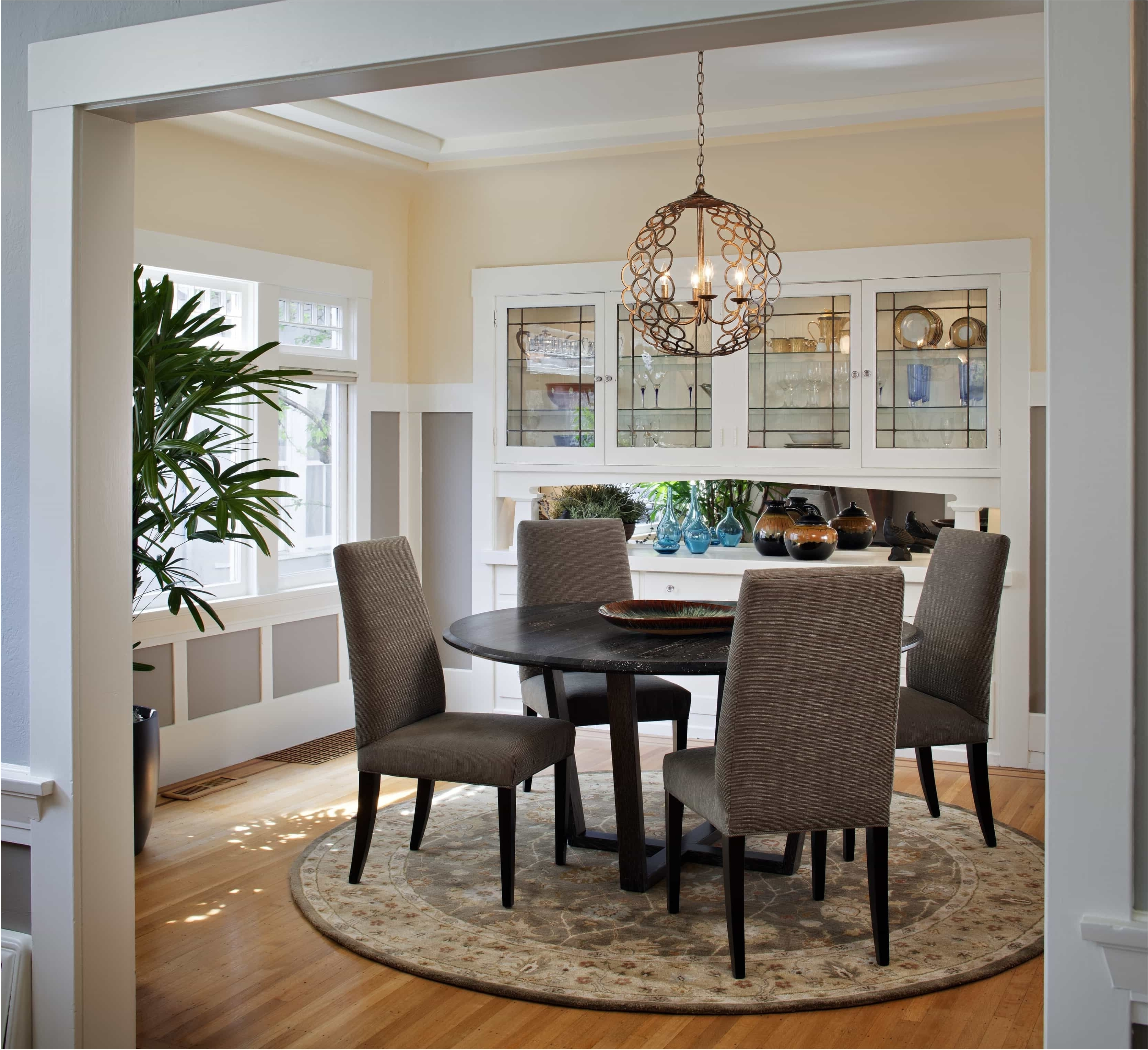 Craftsman Round Dining Tables Throughout Most Recently Released Magnificent Craftsman Lighting For Dining Room With Round Table (View 9 of 25)