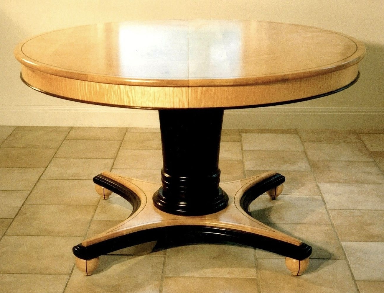 Craftsman Round Dining Tables With Regard To Most Recent Custom Round Extending Dining Tablelouis Fry Craftsman In Wood (View 11 of 25)