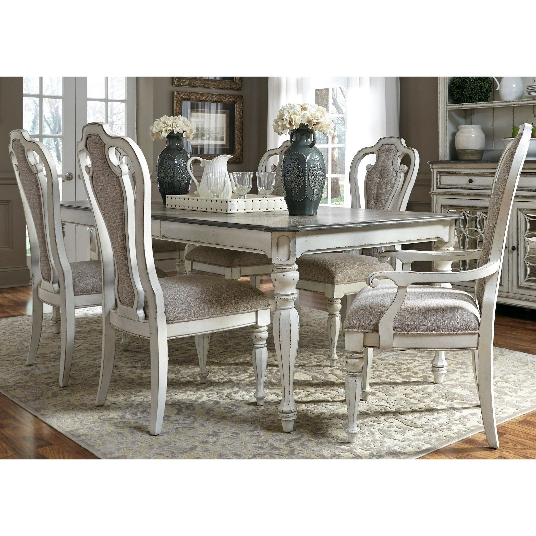 Crawford 7 Piece Rectangle Dining Sets In Recent Magnolia Manor Dining 7 Piece Rectangular Table Set With Leaf (View 13 of 25)