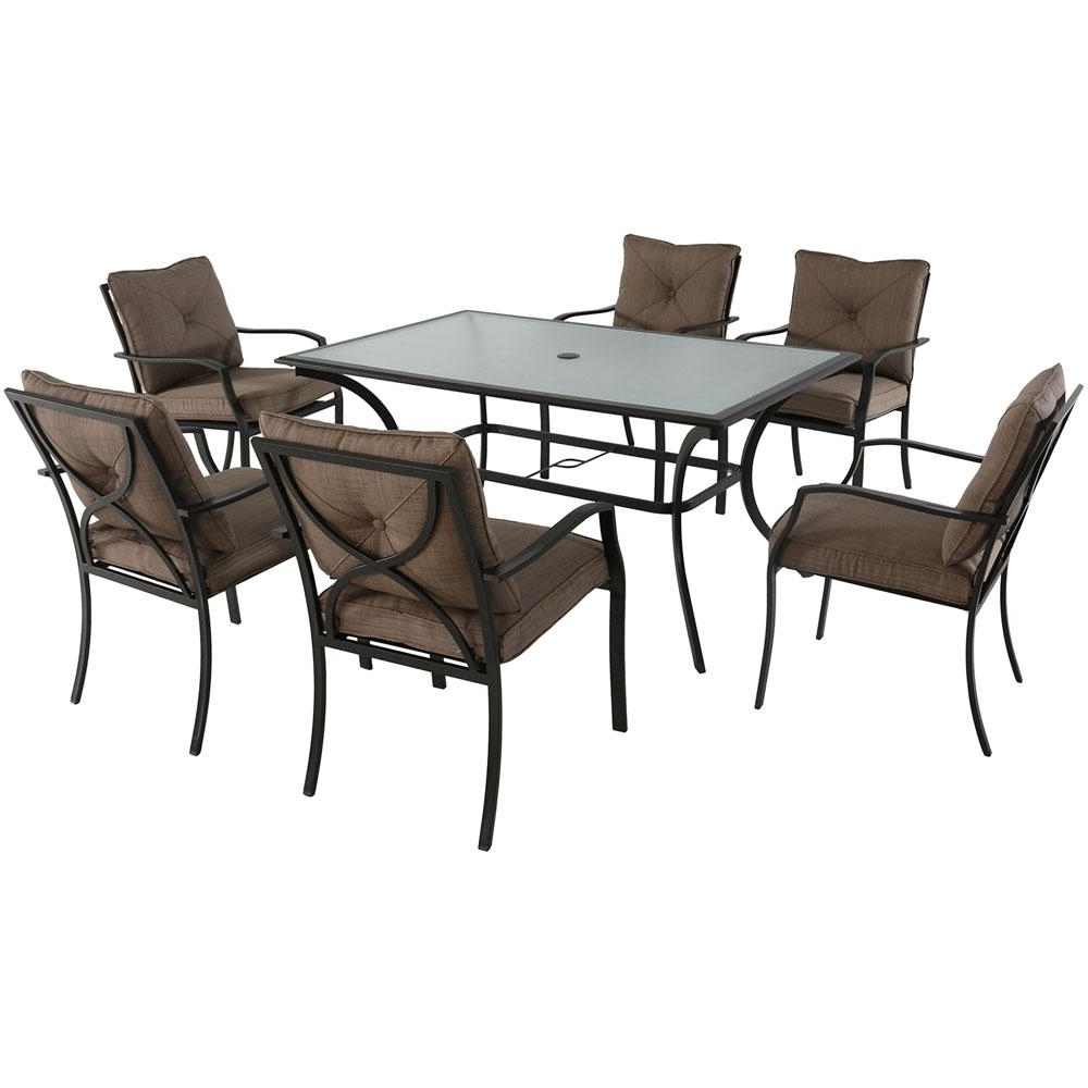 Crawford 7 Piece Rectangle Dining Sets Intended For Recent Cambridge Crawford 7 Piece Steel Outdoor Dining Set With Copper (View 3 of 25)