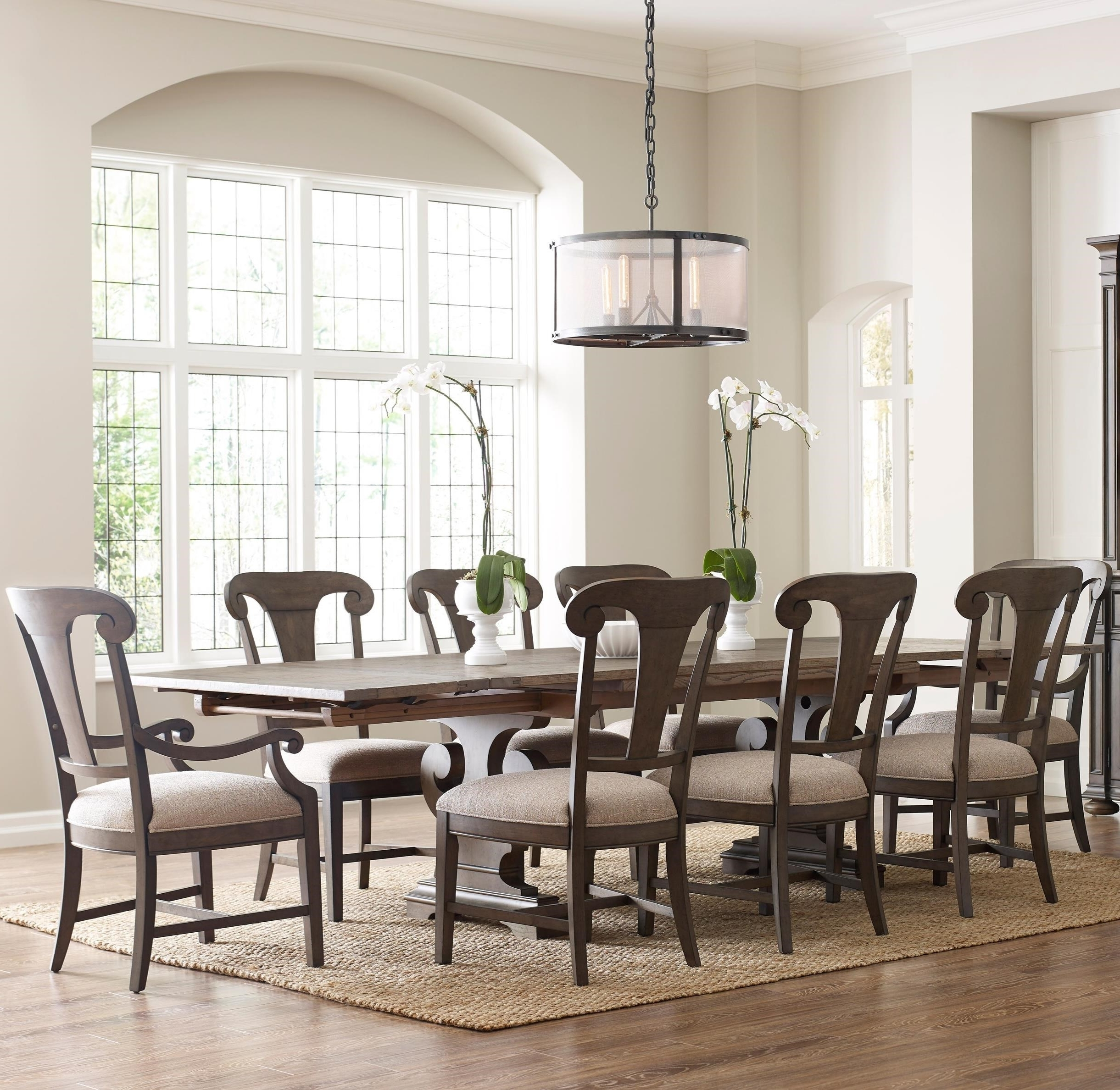 Crawford 7 Piece Rectangle Dining Sets Within Well Known Kincaid Furniture Greyson Nine Piece Dining Set With Crawford (View 10 of 25)