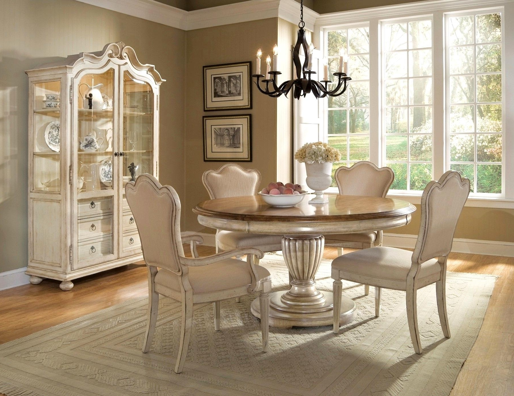 Cream Dining Tables And Chairs Pertaining To Most Recent Breathtaking Cream Dining Tables Chairs Luxurius Home Gorgeous Round (View 11 of 25)