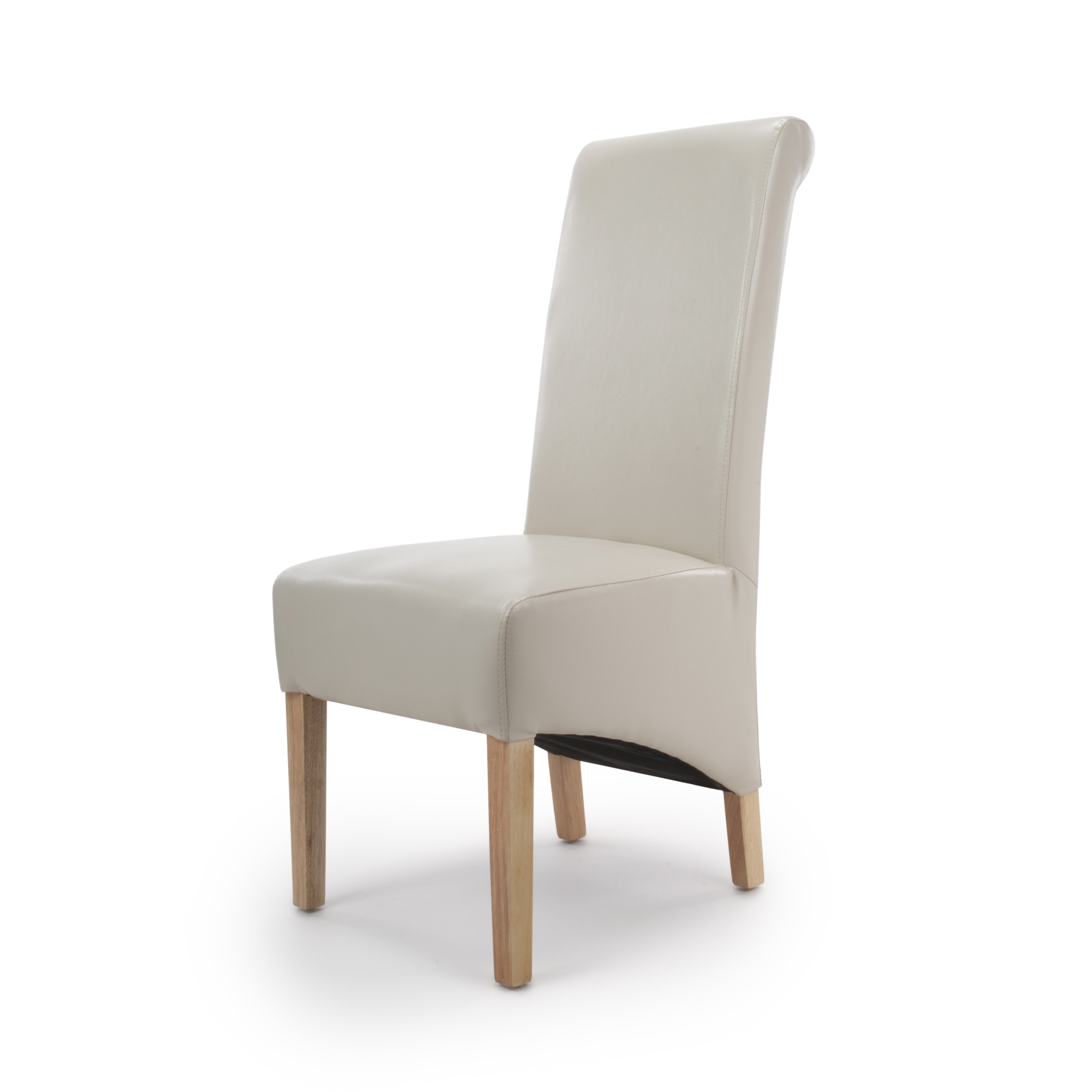 Cream Leather Dining Chairs For Well Known Krista Ivory Cream Leather Dining Chairs (View 4 of 25)