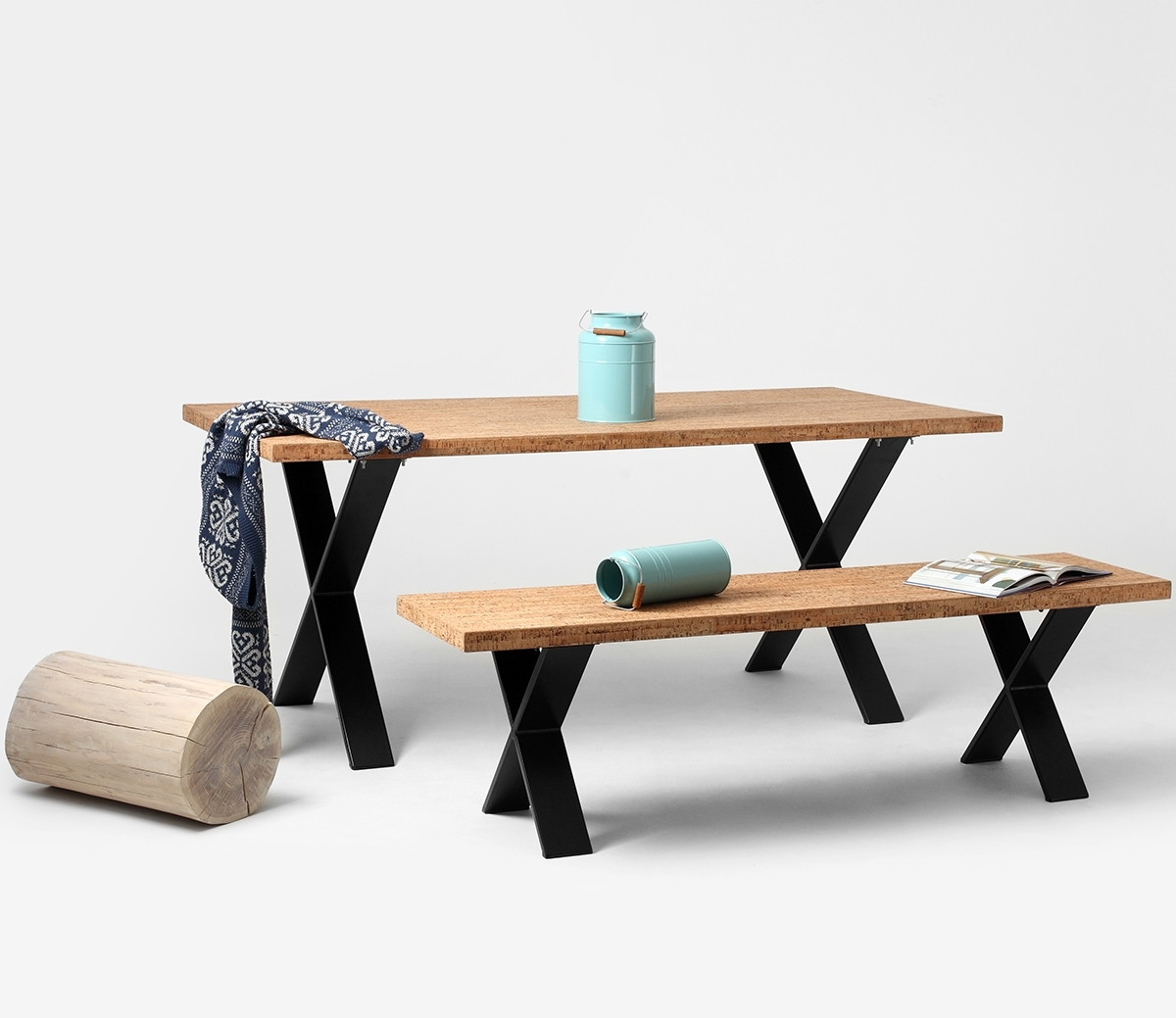 Cross Cork Dining Table • Woo  (View 8 of 25)