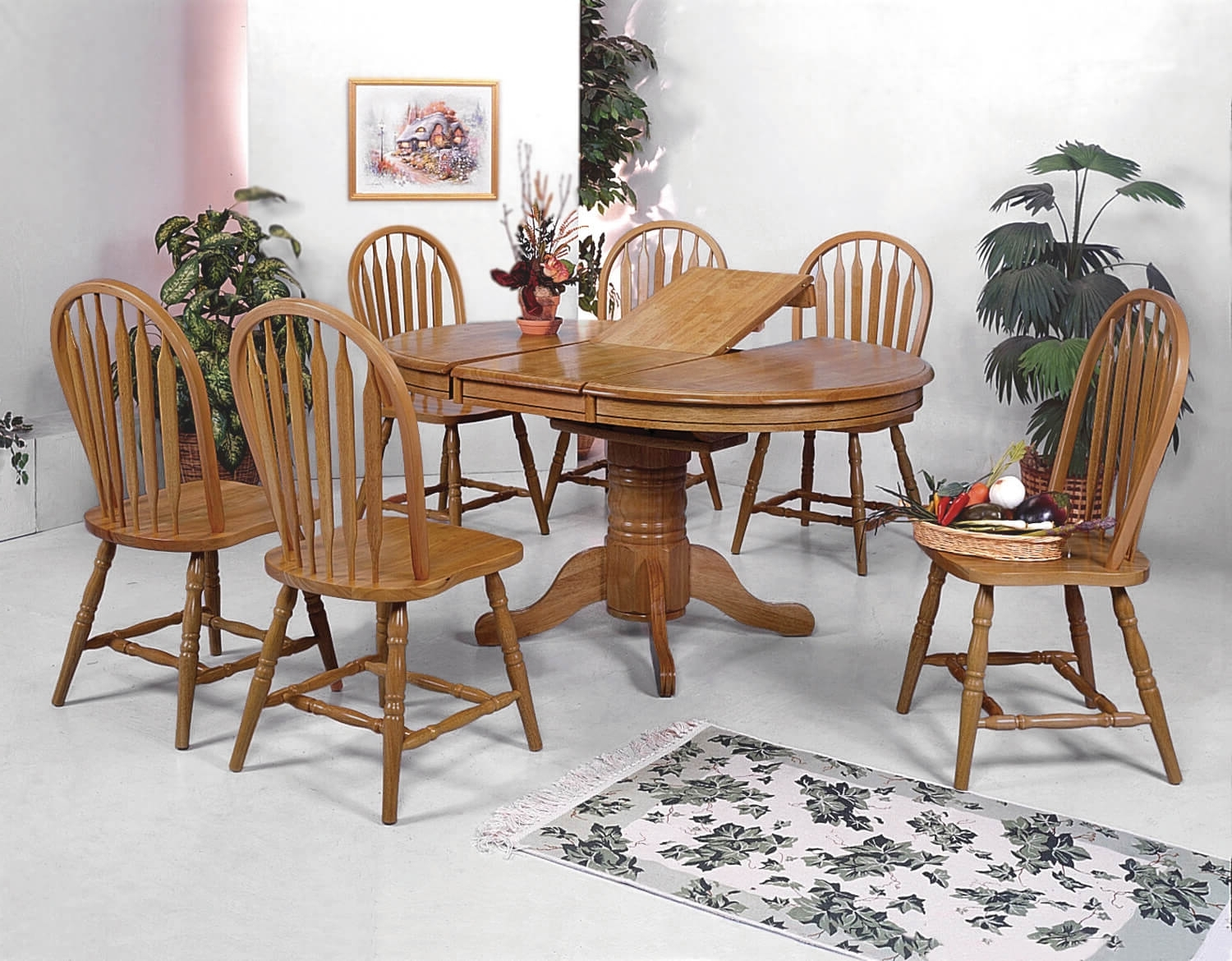 Crown Mark Dark Oak Dining Room Set (Gallery 21 of 25)