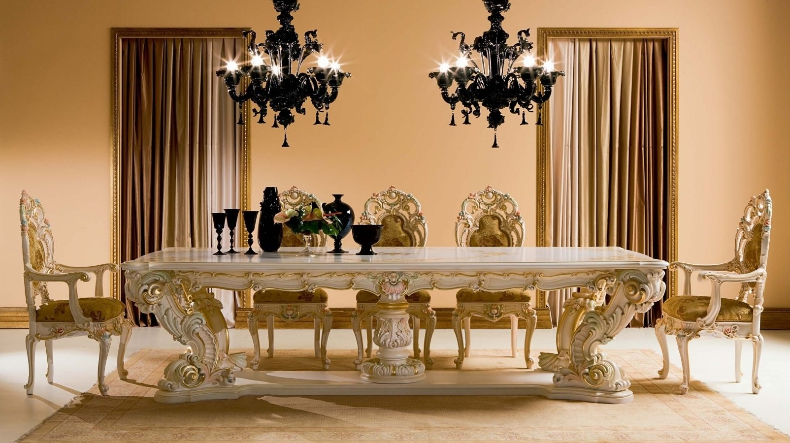 Crystal Dining Tables For Widely Used Classic Dining Table / Crystal / Rectangular / For Hotels – Minerva (View 12 of 25)