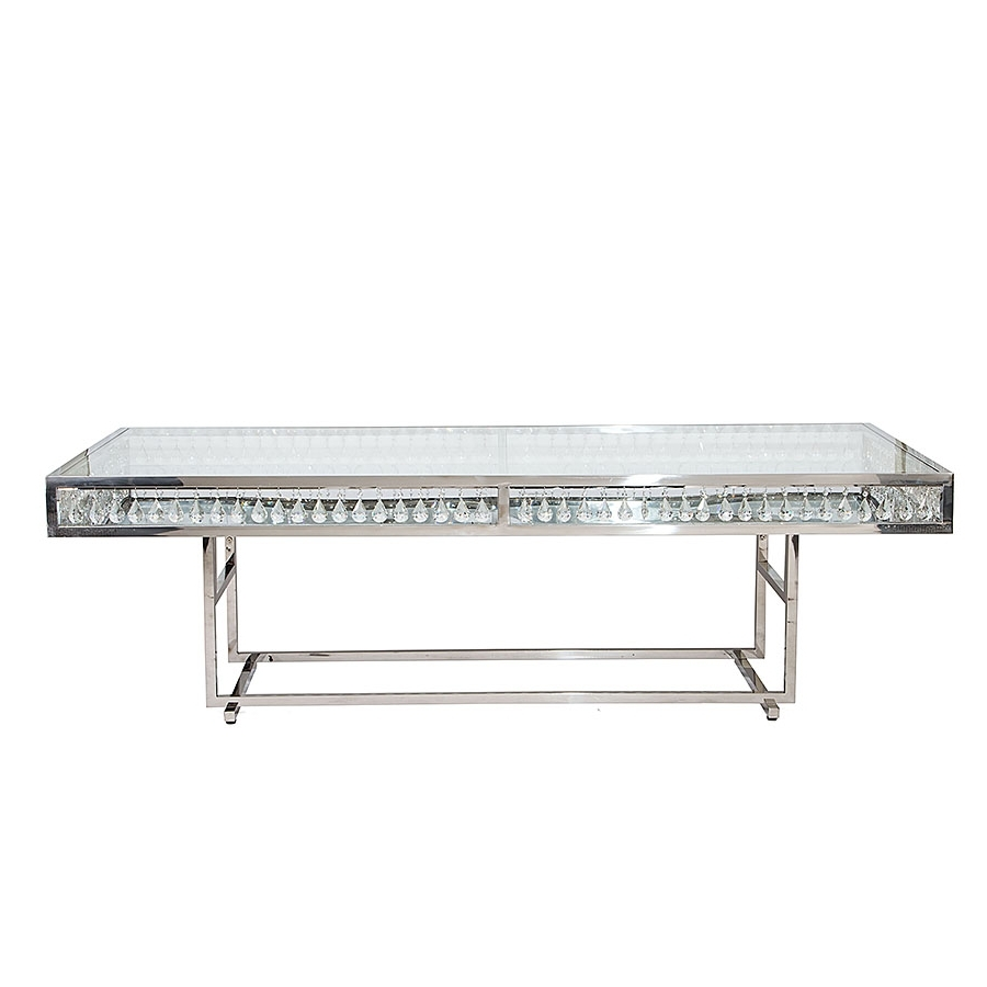 Crystal Dining Tables With Regard To 2017 Le Crystal Dining Table Silver – High Style (View 15 of 25)