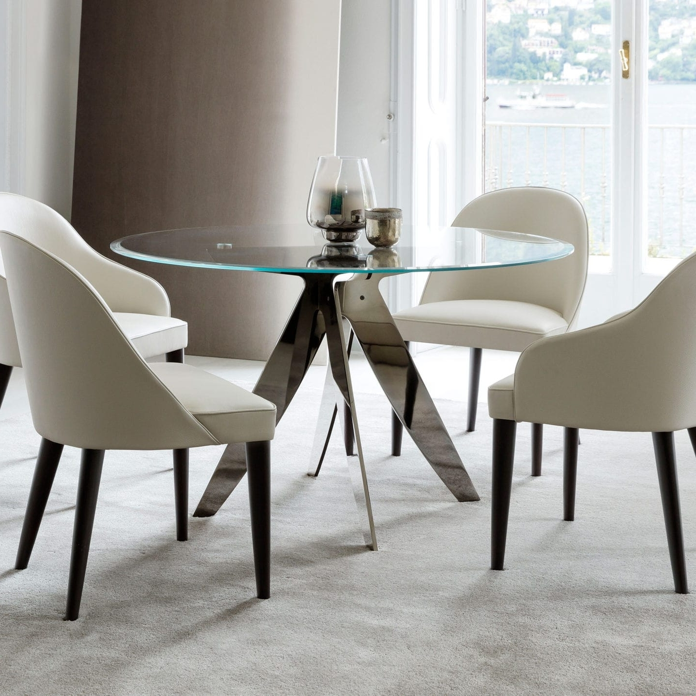 Crystal Dining Tables With Regard To Fashionable Contemporary Dining Table / Crystal / Round – Ring Rotondo – Berto (View 7 of 25)