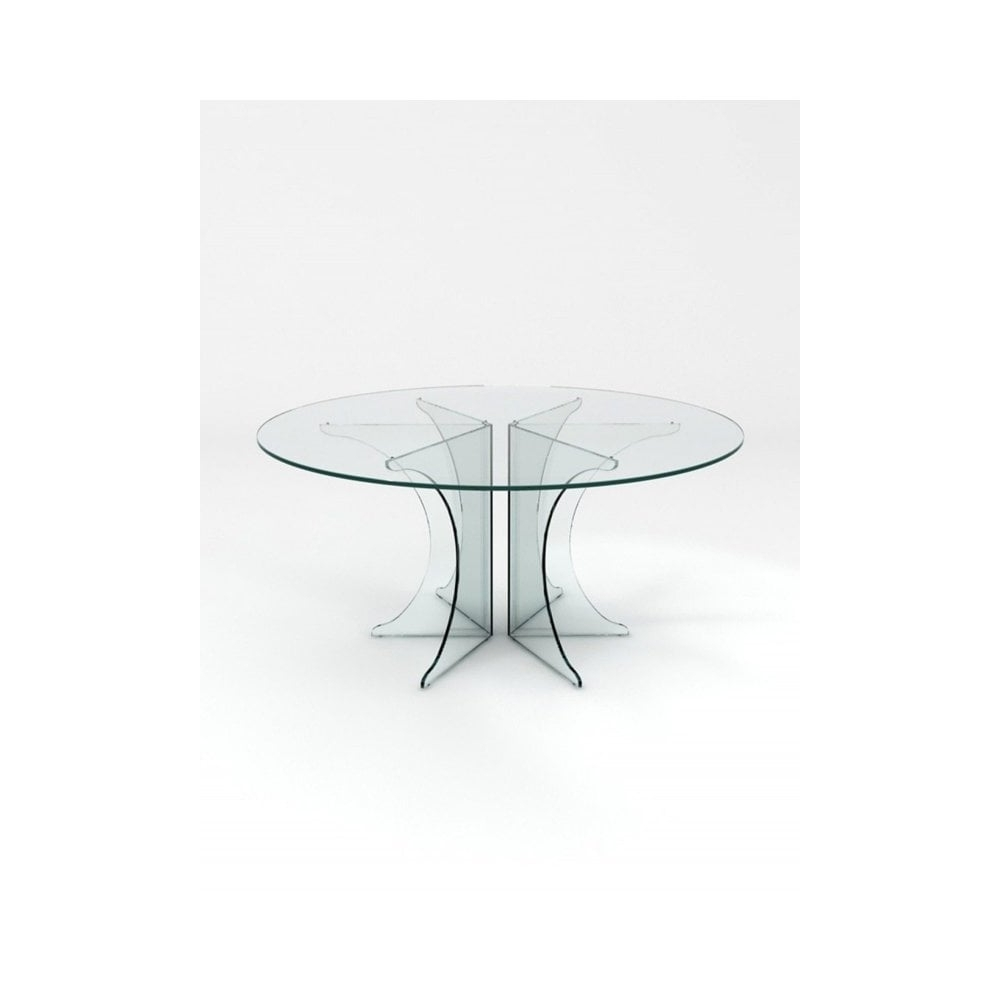 Crystal Pure Circular Dining Table  Glassdomain.co (View 19 of 25)