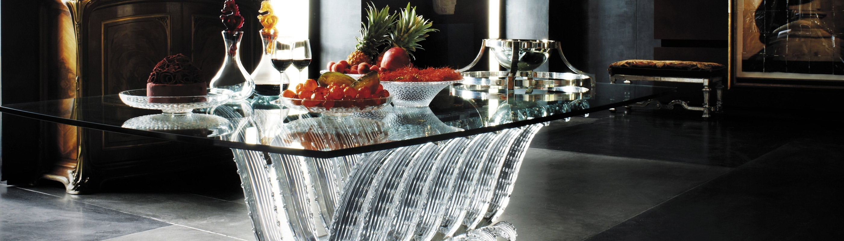 Crystal Tables, Desks, Consoles, Side Tables & Bedsides (View 9 of 25)