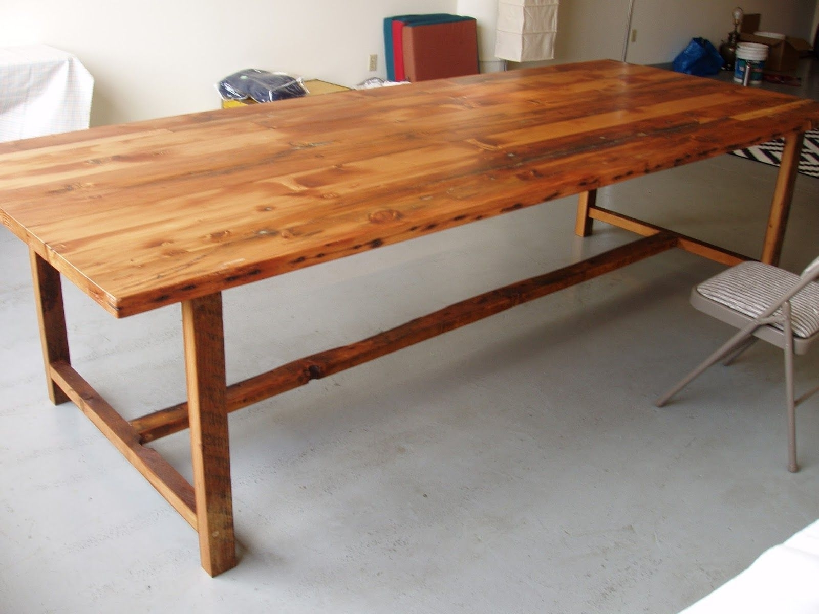 Current 10 Foot Long48 Inch Wide Wood Dining Table (View 7 of 25)