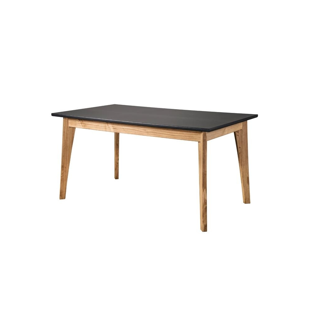 Current 6 Seat Dining Tables Regarding Manhattan Comfort Jackie Dark Grey And Natural Wood 6 Seat Dining (View 9 of 25)