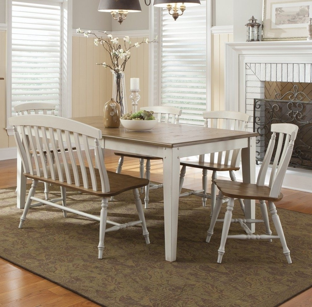Current Alluring Dining Room Table With Bench Seat Interior Ideas With Intended For Dining Tables Bench Seat With Back (View 3 of 25)