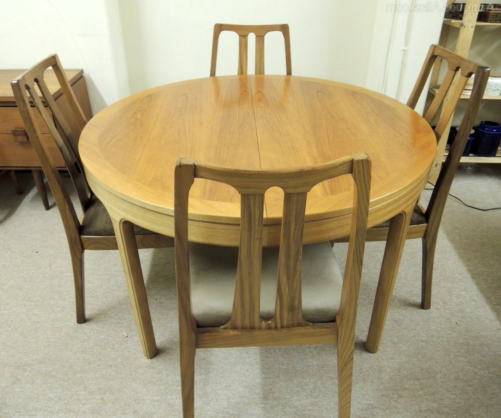 Current Antiques Atlas – Nathan Extending Dining Table & 6 Chairs Within Retro Extending Dining Tables (View 2 of 25)