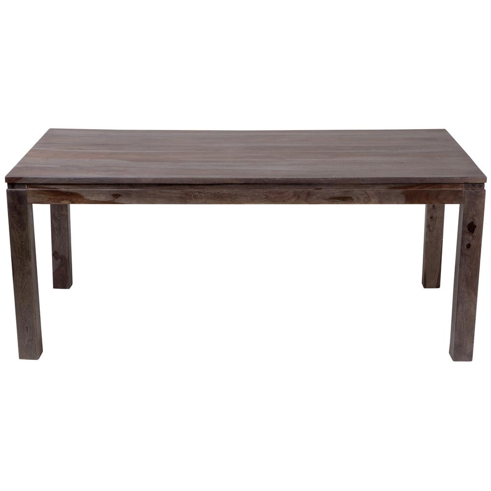 Current Artisanal Dining Tables Pertaining To Big Sur Contemporary Solid Sheesham Wood Dining Table In Gray Wash (View 11 of 25)