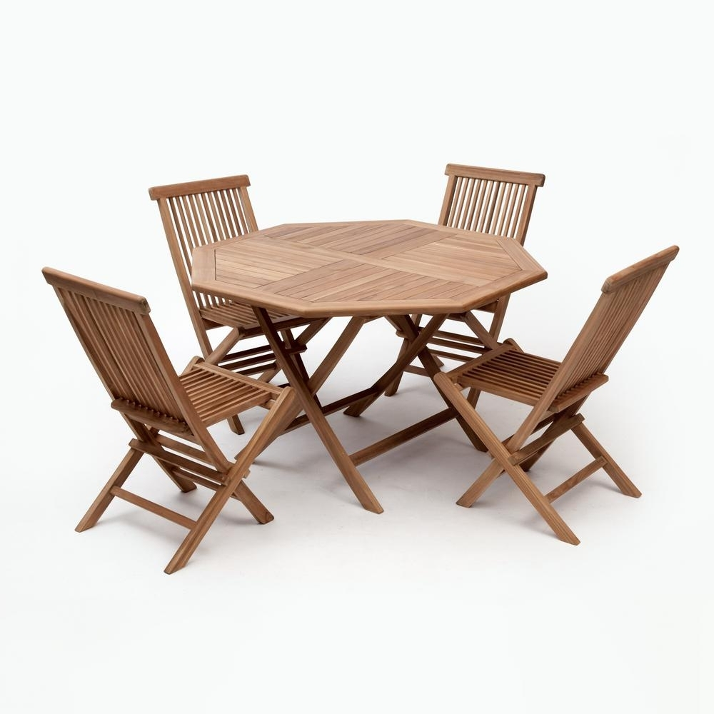 Current Bali Dining Sets In Bali Brown 5 Piece Wood Octagon Outdoor Dining Set Without Cushions (View 12 of 25)