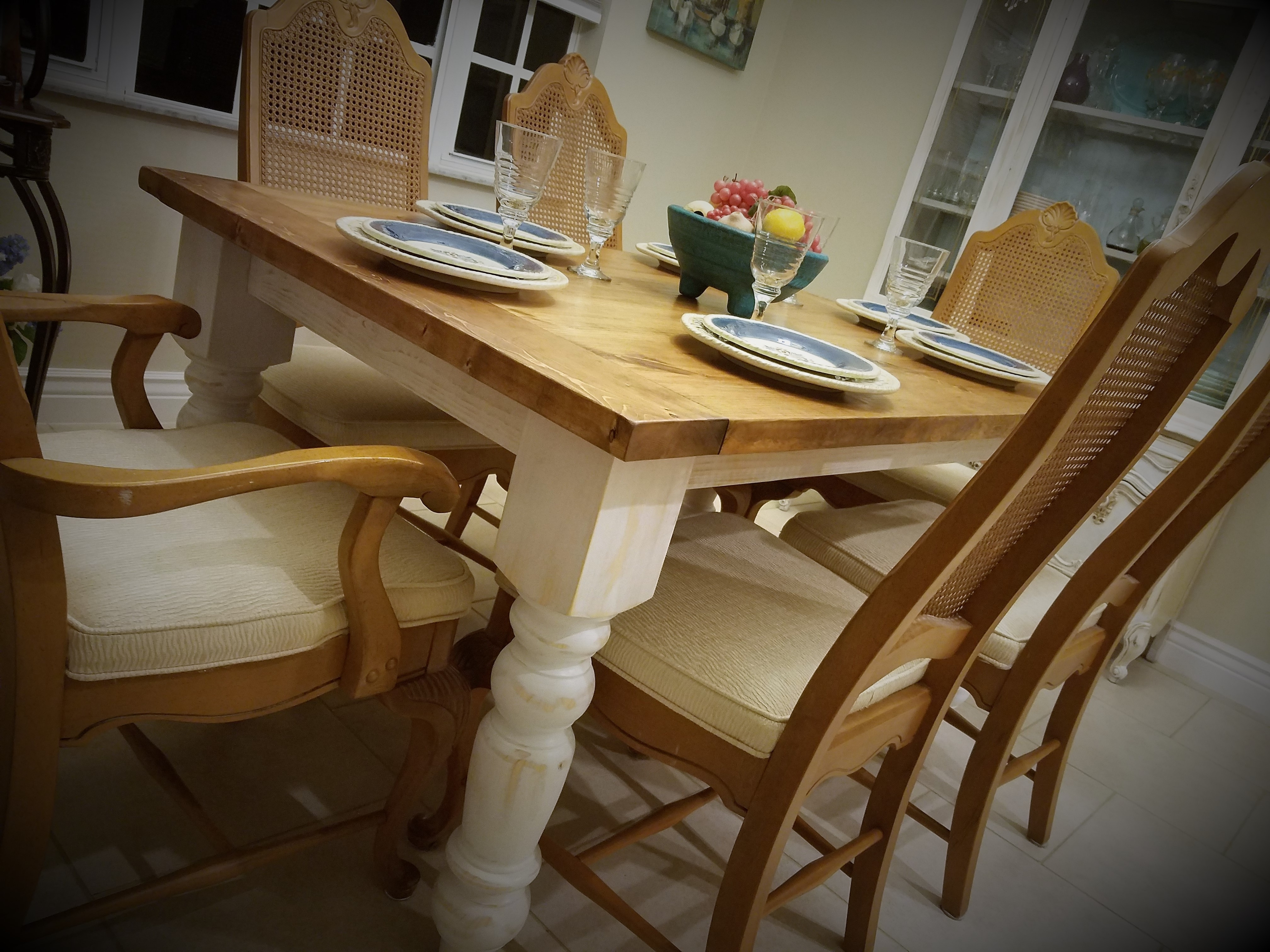 Current Big Fat Legs Never Looked So Good – Spindle Legs On A Rustic Farm Intended For Dining Tables With Large Legs (View 2 of 25)