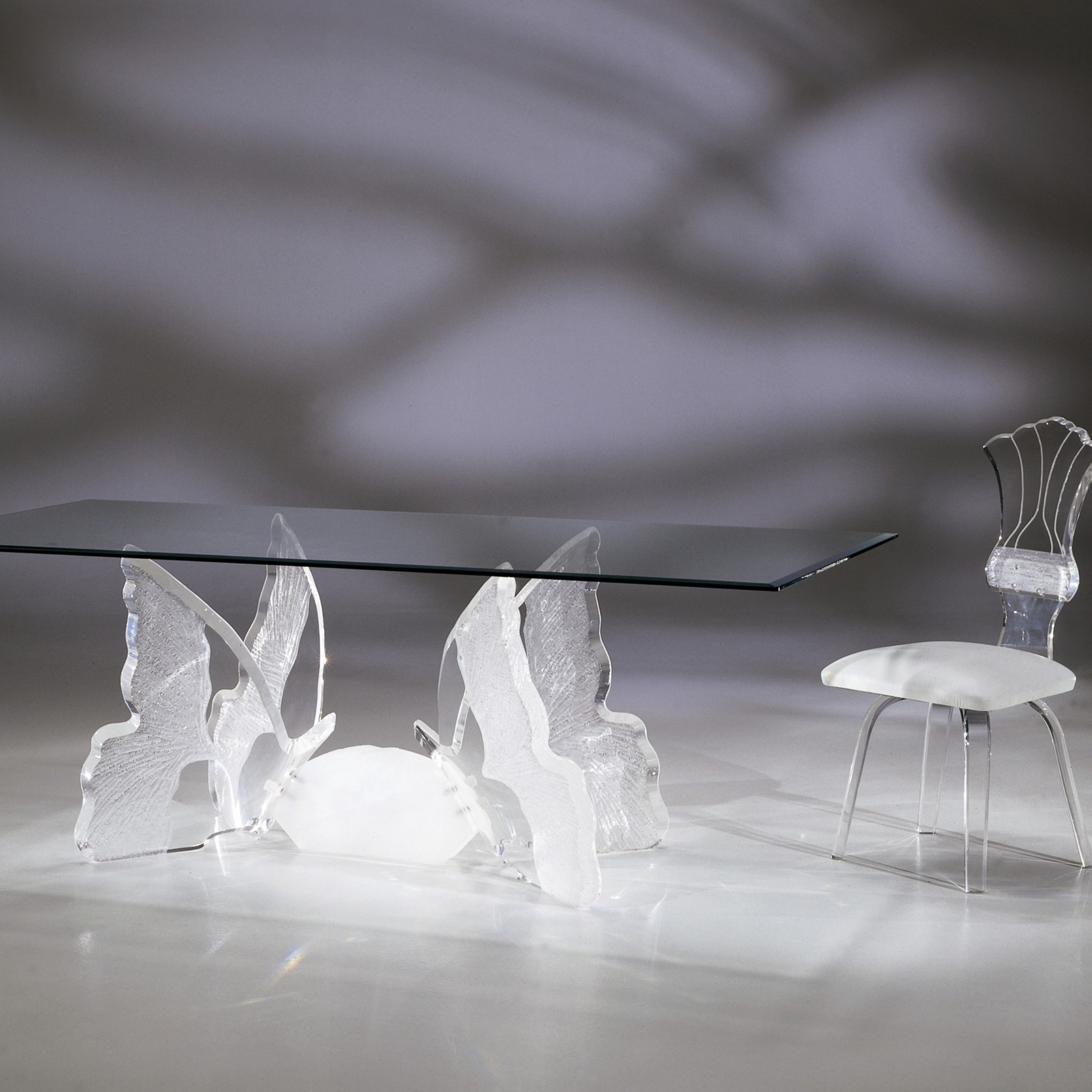 Current Butterfly Ii Dining Table – Shahrooz Art With Acrylic Dining Tables (View 14 of 25)