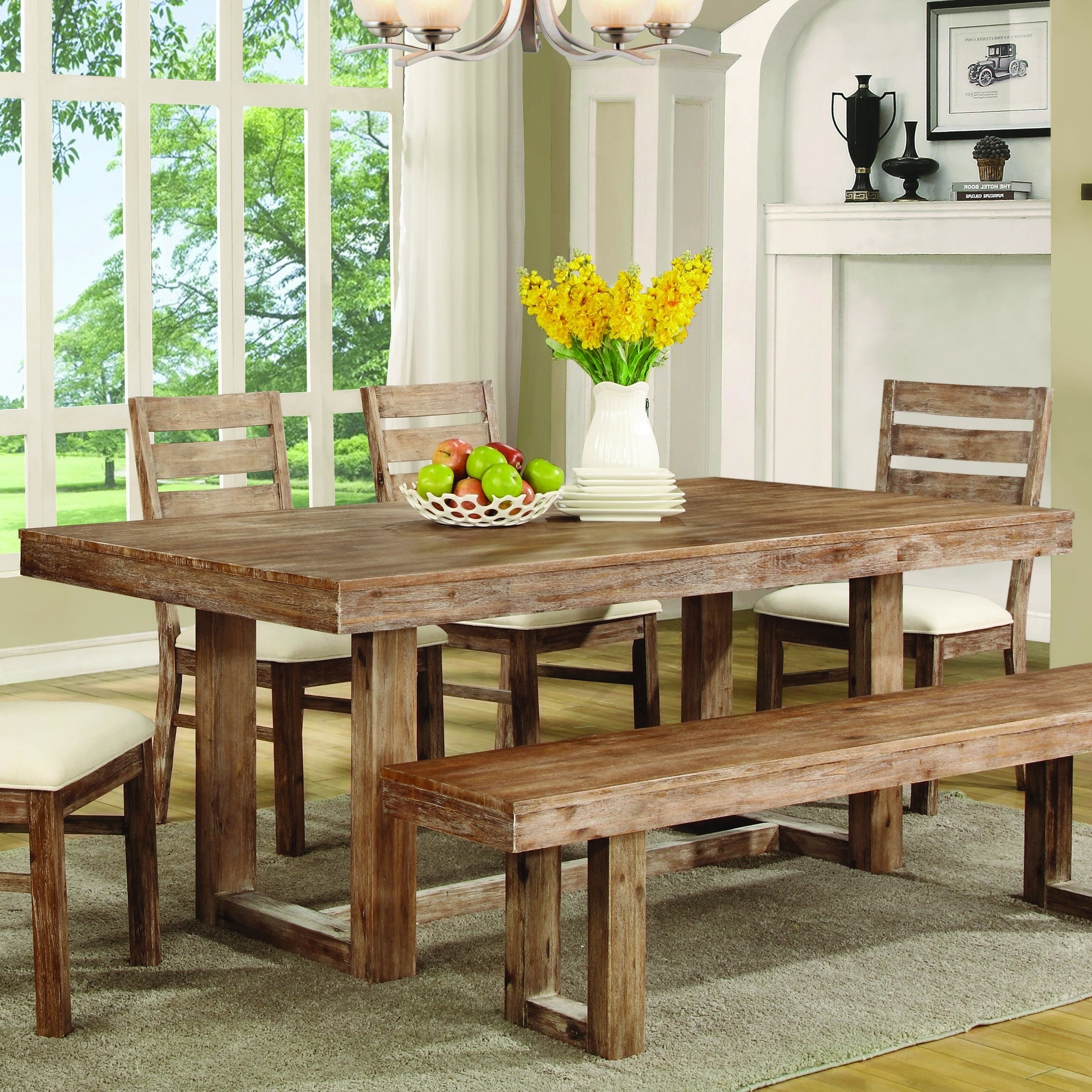 "Current Buy Elmwood Rustic ""u"" Base Dining Tablecoaster From Www With Rustic Dining Tables (View 18 of 25)"