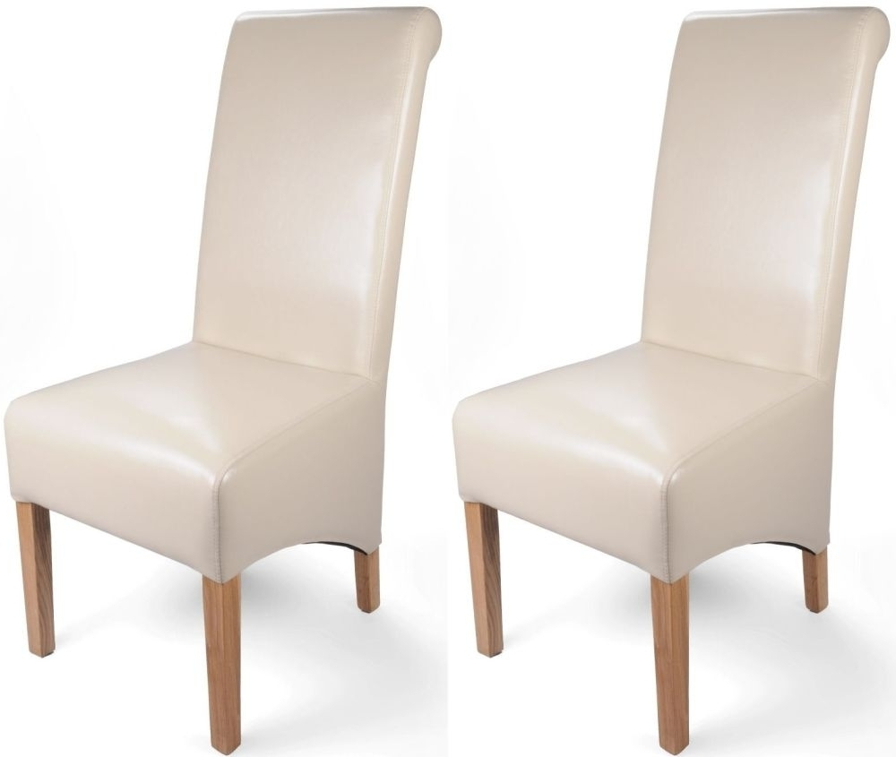 Current Buy Shankar Ivory Krista Bonded Leather Dining Chair (Pair) Online Inside Ivory Leather Dining Chairs (View 4 of 25)