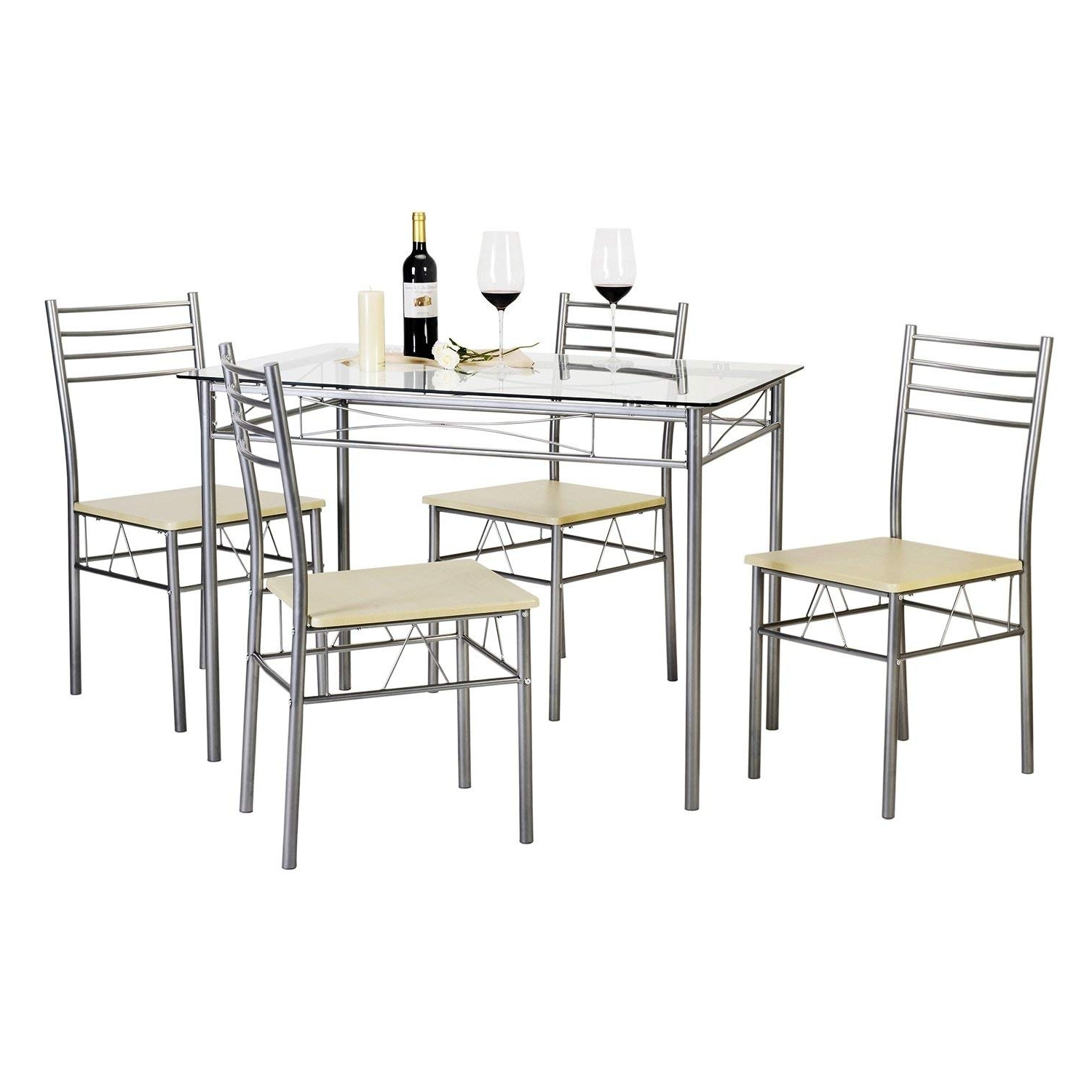Current Candice Ii 7 Piece Extension Rectangle Dining Sets With Cheap Black And Silver Dining Table, Find Black And Silver Dining (Gallery 23 of 25)