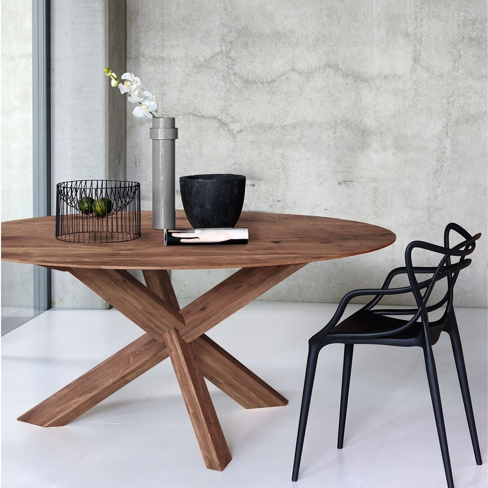 Current Circular Dining Tables With Circle Walnut Dining Table (View 2 of 25)