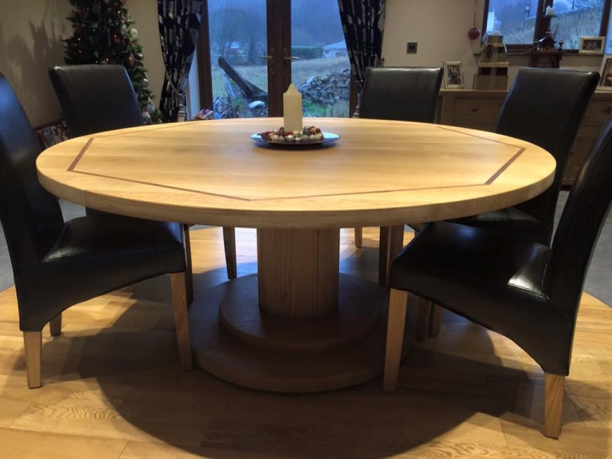 Current Circular Oak Dining Tables Regarding Round Oak Dining Table – Coleman & Edwards Makers Of Fine Furniture (View 18 of 25)