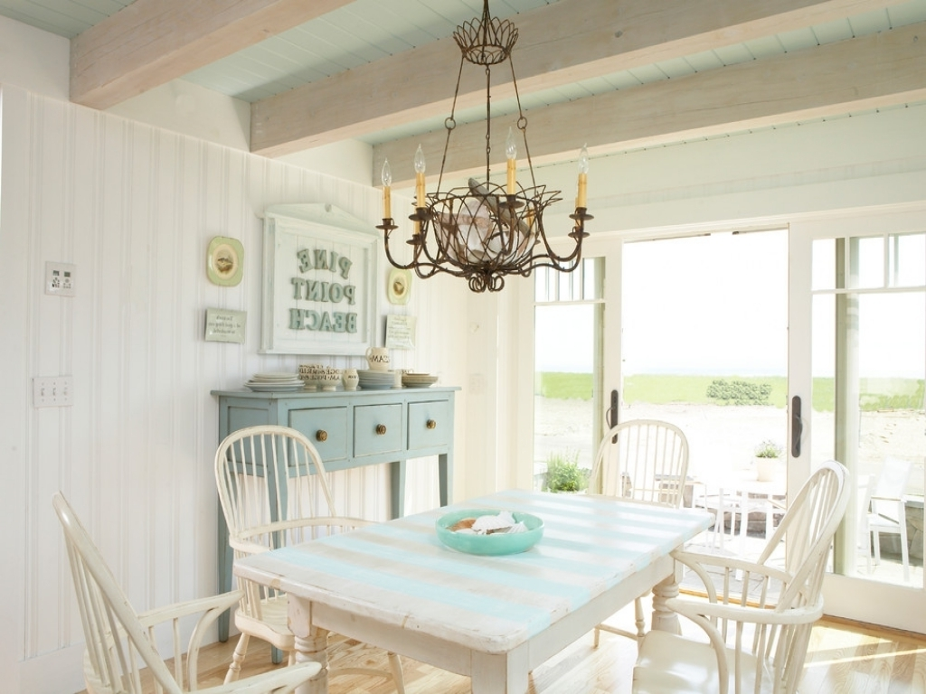 Current Coastal Dining Tables Within Kitchen (View 9 of 25)